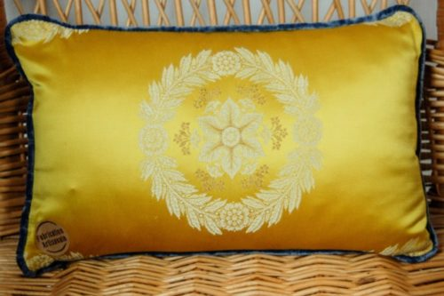 Coussin soie et coton